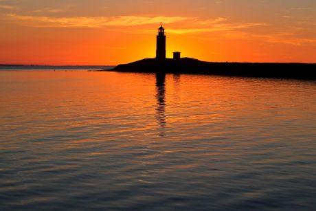 Leuchtturm Langeness Leuchtfeuer Sunset at the lighthouse