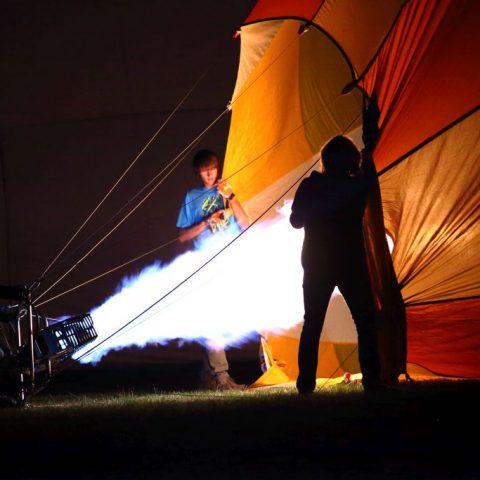 Flugplatz Lilienthal Ballonglühen