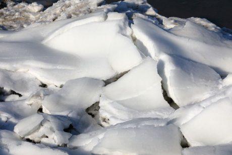 Eiswinter auf Hallig Langeness