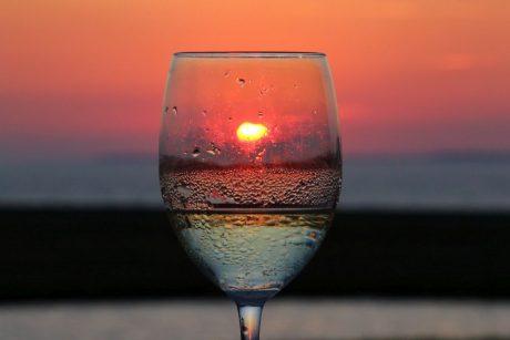 Sonnenuntergang im Wattenmeer