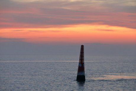 Sonnenuntergang bei der Anreise