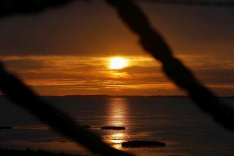 Sonnenuntergang vor der Insel Föhr
