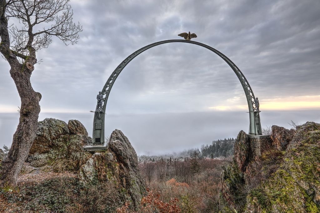 Kalter Januar-Morgen am Adlerbogen